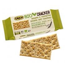 Bio crackers  de sésamo y romero  con aceite de oliva virgen extra