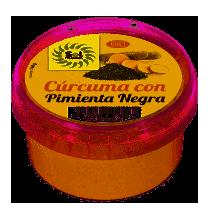 Cúrcuma con pimienta negra ecológica  SOL NATURAL 100 GRAMOS