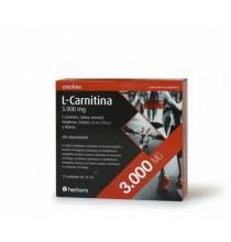 L- Carnitina  3000 mg ( lote de 3 cajas)  Herbora  12 viales
