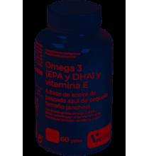 Omega 3 ( EPA y DHA) Y Vitamina E Herbora  60 perlas
