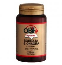 Borraja y onagra + vitamina E Obire 110 perlas 700 mg